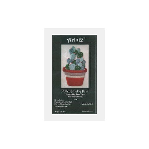 Artsi2 PC Wool Felt Kit Potted Prickly Pear