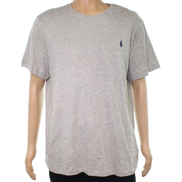 1e0bc31b6 Shop Polo Ralph Lauren Heather Gray Mens Size XL Custom Fit Tee T ...