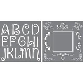 "Quirky - Initial Impressions Stencil 12""X12"""