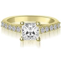 0.75 cttw. 14K Yellow Gold Princess And Round Diamond Engagement Ring