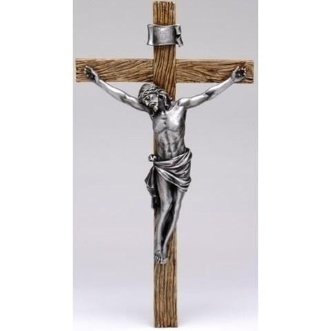 "20"" Joseph's Studio Religious Antique Silver Crucifix Wall Cross"