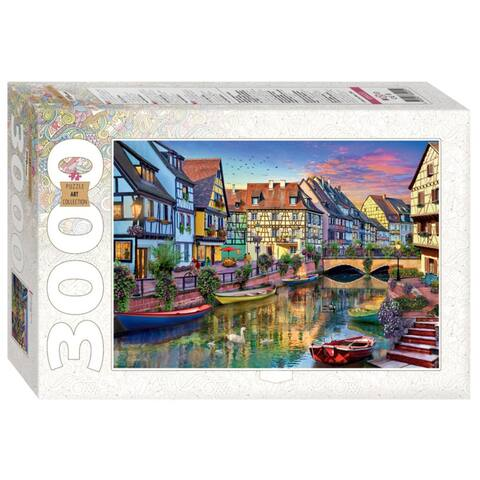 Colmar Canal. France 3000 Piece Jigsaw Puzzle for Adults & Kids