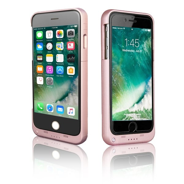 Indigi® High Capacity 3200mAh Rechargeable Battery Case for iPhone 7 - Rose Gold