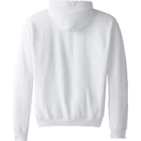 Hanes Men's Full-Zip EcoSmart Fleece Hoodie, White, Large, White, Size Large