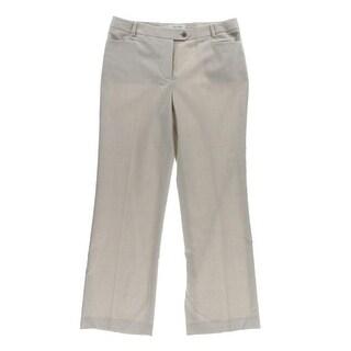 Calvin Klein Womens Petites Houndstooth Glen Plaid Dress Pants - 12P