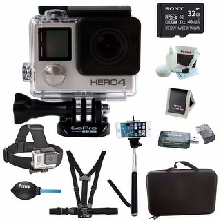 GoPro HERO4 BLACK Edition Camera HD Camcorder With Sony micro /XC 32GB High speed memory card Complete Deluxe Accessory Bundle