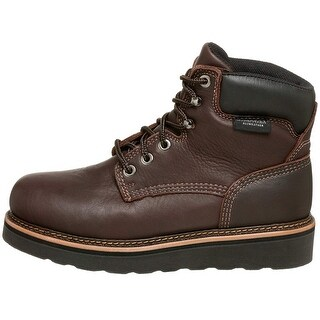 Golden Retriever Mens 2901 6 Work Boot Leather Aluminum Toe Lace Up Safety Sh... - 12