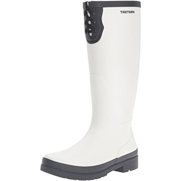 Tretorn Womens Lacey Rain Boots Knee-High Contrast Trim