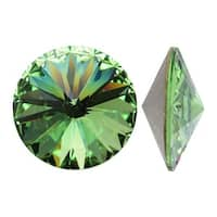 Swarovski Elements Crystal, 1122 Rivoli Fancy Stones 14mm, 2 Pieces, Peridot Sf