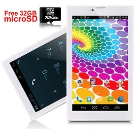 Indigi® Android 4.4 KitKat Factory Unlocked 3G 2-in-1 DualSIM SmartPhone + TabletPC w/ 32gb microSD included