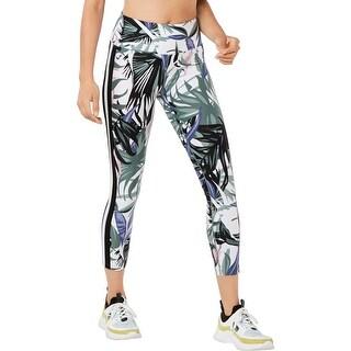 Calvin Klein Performance Womens Athletic Leggings High-Waist Yoga - White Multi