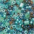 Toho Multi-Shape Glass Beads 'Take' Seafoam/Green Color Mix 8 Gram Tube - Thumbnail 0