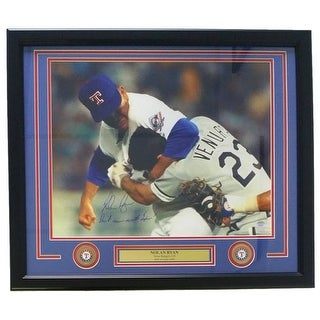 Nolan Ryan Signed Framed 16x20 Photo Don't Mess With Texas SI+Ryan Holo