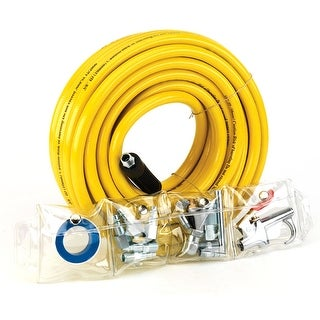 Trades Pro 3/8-Inch x 50-feet PVC Air Hose And 15 Piece Accessory Set - 835668
