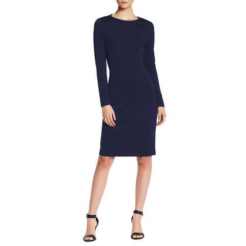 Betsey Johnson Long Sleeve Textured Knit Sheath Dress