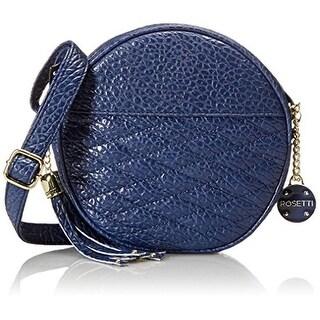 Rosetti Womens Liberty Faux Leather Round Crossbody Handbag - Medium