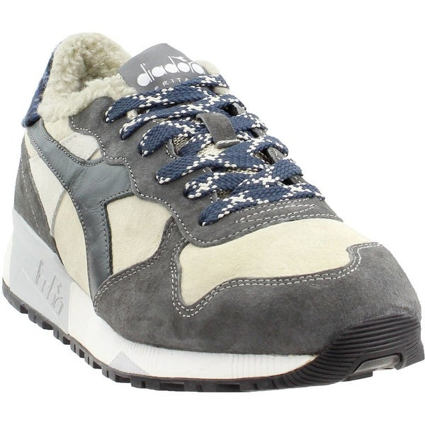 Shop Diadora Mens Trident 90 Check Casual Athletic   Sneakers - Free ... 8213f7542c4