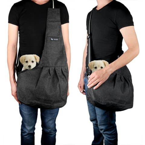 Denim Portable Puppy Pet Carrier Bag Hands-free Travel Washable Tote Backpack for Small Dog Cat