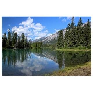 """Bow River in Banff, Alberta Canada"" Poster Print"
