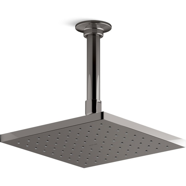 """Kohler K-45200 Contemporary 8"""" Square 2.0 GPM Rainhead with Katalyst Air-Induction Spray Technology"""