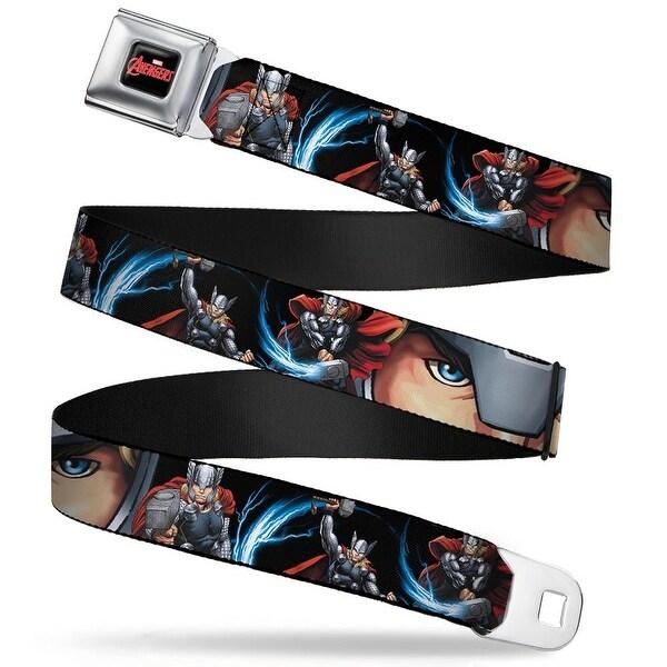 Marvel Avengers marvel Avengers Logo Full Color Black Red White Thor Action Seatbelt Belt
