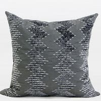 """G Home Collection Luxury Gray Chevron Pattern In Two Tone Textured Embroidered Pillow 18""""X18"""""""