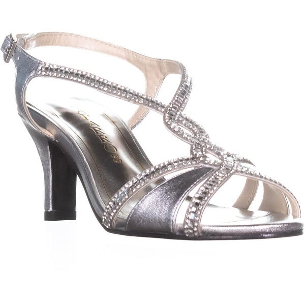 Caparros Lilly Ankle Strap Stiletto Sandals, Silver Metallic