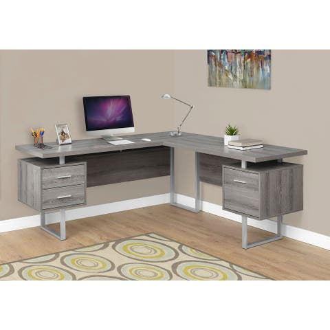 Monarch 7304 Dark Taupe Left Or Right Facing 70nch Computer Desk