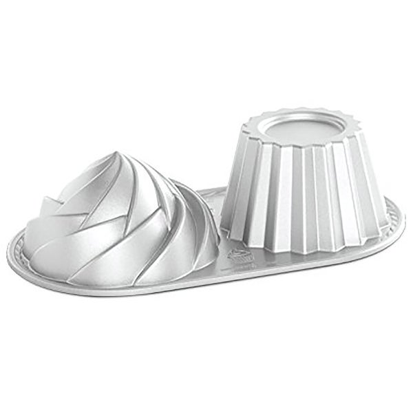 Nordicware Pro Cast Cute Jumbo Cupcake Non-Stick Baking Pan, Gray, 6 Cups. Opens flyout.
