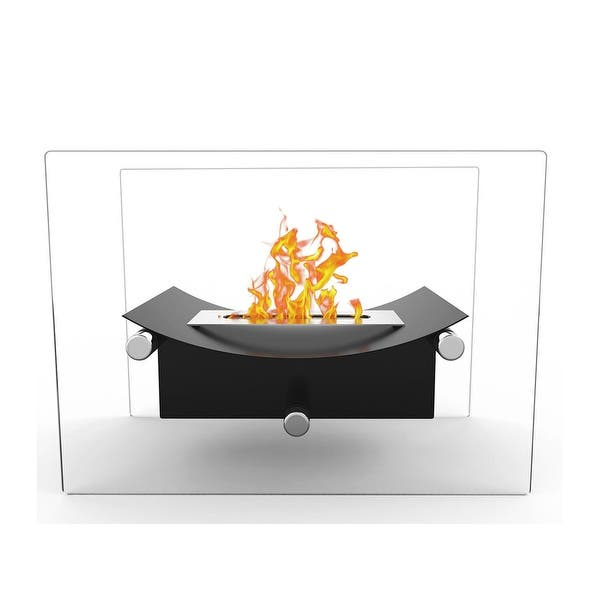 BRIAN /& DANY Ventless Tabletop Portable Fire Bowl Pot Bio Ethanol Fireplace Indoor Outdoor Fire Pit in Black w//Fire Killer Funnel