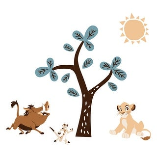 Disney Baby Lion King Adventure Tree with Simba/Timon/Pumbaa Wall Decals/Stickers by Lambs & Ivy