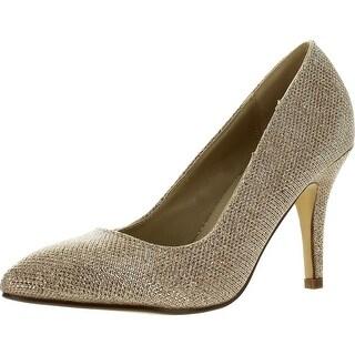 Bonnibel Kendra-1 Women's Slip On Almond Toe Glitter Stiletto Dress Pumps
