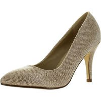 Bonnibel Kendra-1 Women's Slip On Almond Toe Glitter Stiletto Dress Pumps