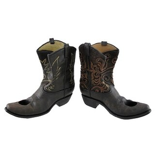 Pair of Embroidered Cowboy Boots Western Wine Holders