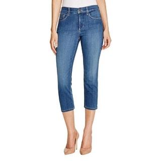 NYDJ Womens Karen Capri Jeans Denim Medium Wash