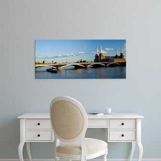 Easy Art Prints Panoramic Images's 'Bridge with Battersea Power Station, Thames River, London, England' Canvas Art