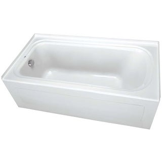 """ProFlo PFS7242LSK 72"""" x 42"""" Alcove Soaking Bath Tub with Skirt and Left Hand Drain"""