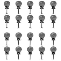 Clear Glass Cabinet Knobs 30mm Round, 1.5 inch projection 20 pcs