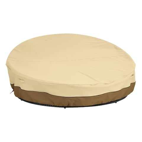 Classic Accessories Veranda Water-Resistant 90 Inch Round Patio Daybed Cover