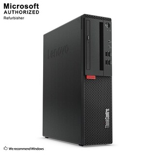 Certified Refurbished Lenovo M910S SFF, Intel i7-7700 3.6GHz, 16GB DDR3, 240GB SSD, DVD, WIFI, BT 4.0, HDMI, W10P64 (EN/ES)