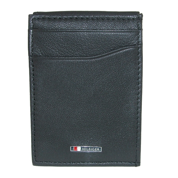 Tommy Hilfiger Men's Lloyd Leather Magnetic Front Pocket Wallet with ID - One size