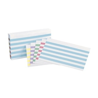 Esselte Pendaflex Oxford Color Bar Ruled Index Card, 3 X 5 in, Assorted Color, Pack of 100
