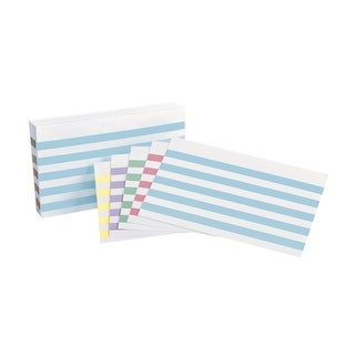 Oxford Color Bar Ruled Index Card, 3 x 5 Inch, Assorted Color, Pack of 100