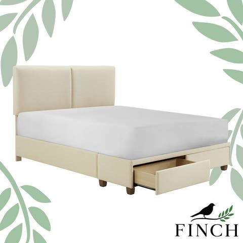 Finch Maxwell Storage Bed with Adjustable Height Headboard