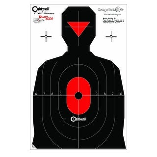 Caldwell Silhouette Dual Zone Target -  25 pack