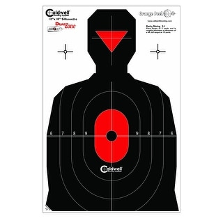 Caldwell 308214 caldwell 308214 silhouette dual zone target 8pk