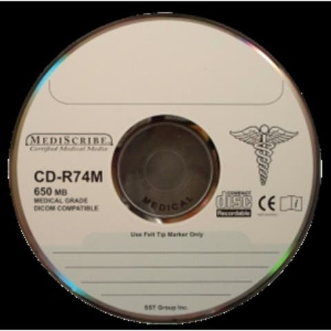 TDK CD-R 80 min, MEDICAL Grade, 700MB, Silver Thermal Printable
