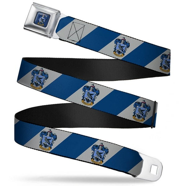 Ravenclaw Crest Full Color Blue Ravenclaw Crest Diagonal Stripe Gray Blue Seatbelt Belt
