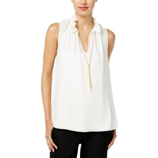 MICHAEL Michael Kors Womens Casual Top Polyester Metallic