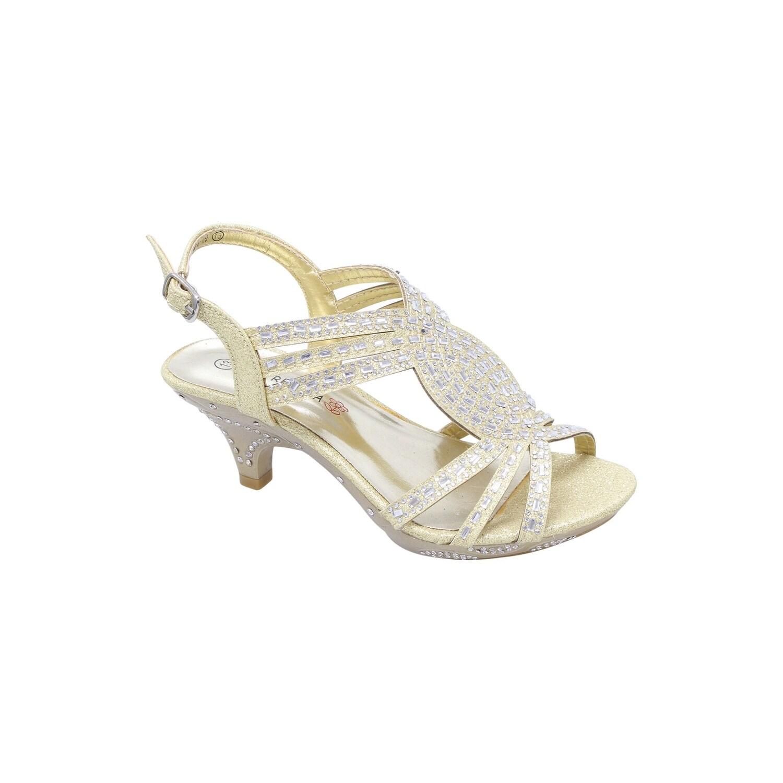 Shop Florecita Girls Gold Wavy Strap